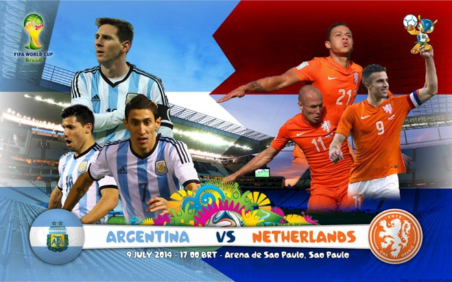 Argentina vs Netherlands 2014 World Cup Semi finals Football