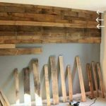 reproduced pallets used for new wall design idea