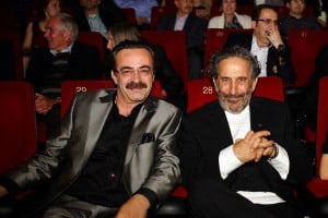Kevork Malikyan on the right with Levent Ülgen during the premiere of the movie