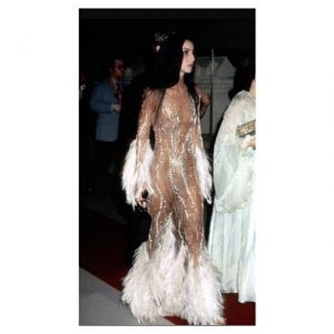 Cher at her first MetGala