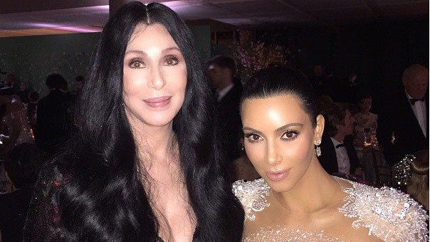 Kim and Cher at Met Gala 2015