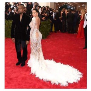 Kim and Kanye at Met Gala 2015