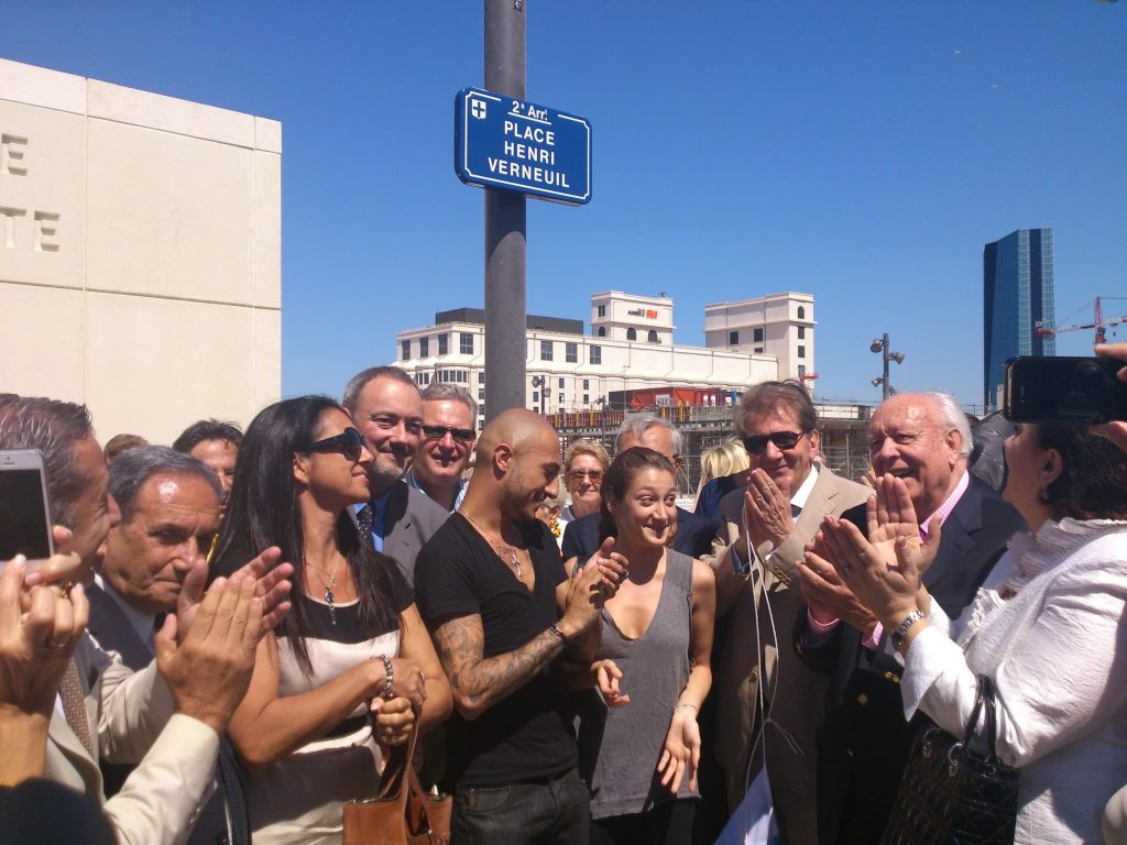 Inauguration of Place Henri Verneuil Marseilles