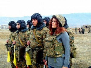 Artsakh Army Visited by students
