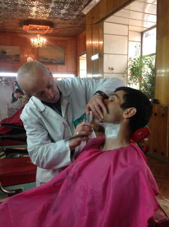David joked he would cut me seven times, but all he gave me was a close shave.