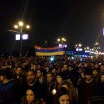 The April 24 memorial night march in Yerevan. (Photo Greg Keraghosian)