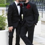 Arthur Gourounlian and Brian Dowling happily wed