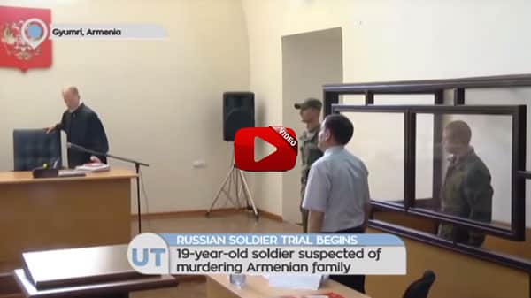Russian soldier accused of killing Armenian family convicted of desertion before murder trial