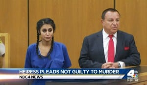 An heiress to an Armenian cracker bread company named Sparkle Soojian has pleaded not guilty in connection with a Glendale murder Thursday, Sept. 17, 2015.