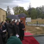 The Presidents of Cyprus and Armenia at the unveiling ceremony of the armenian khatchkar (photo - Sevag Avedissian)