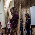 Anna Sargsyan, 19, stands during the rehearsal for a musical organized for International Women's Day at Artsakh State University in Stepanakert. KARL MANCINI, GIANMARCO MARAVIGLIA/ECHO