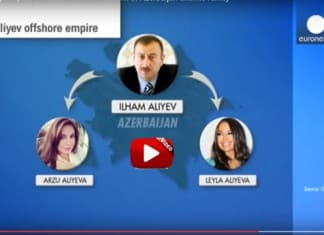 Scandal - Azerbaijan's Aliyev wife and their children are named as the owners of offshore companies.