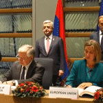 The Comprehensive and Enhanced Partnership Agreement (CEPA) between the #EU and #Armenia is signed, by FA Minister Edward Nalbandian and High Representative of the European Union for Foreign Affairs and Security Policy Federica Mogherini