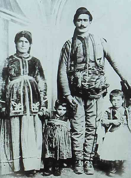 Daniel Varoujan right with his parents Constantinople in 1890