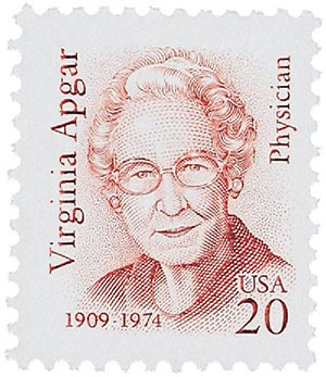 virginia apgar stamp
