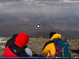 Homenetmen Scouts Raise The Armenian Flag on Top Of Mount Ararat